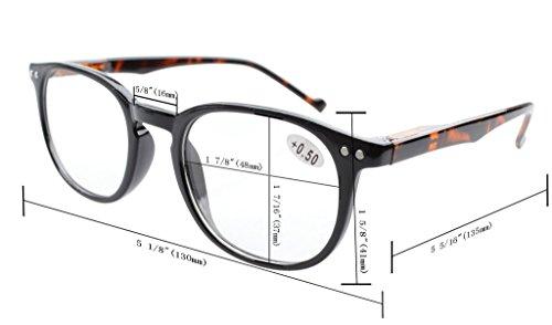 Slim Vintage Computer Readers Reading Glasses Anti Reflective Anti Glare Anti Eyestrain Lens for Digital Screens, UV400 Protection - 0.00x in Tortoise by Eyekepper (Image #3)