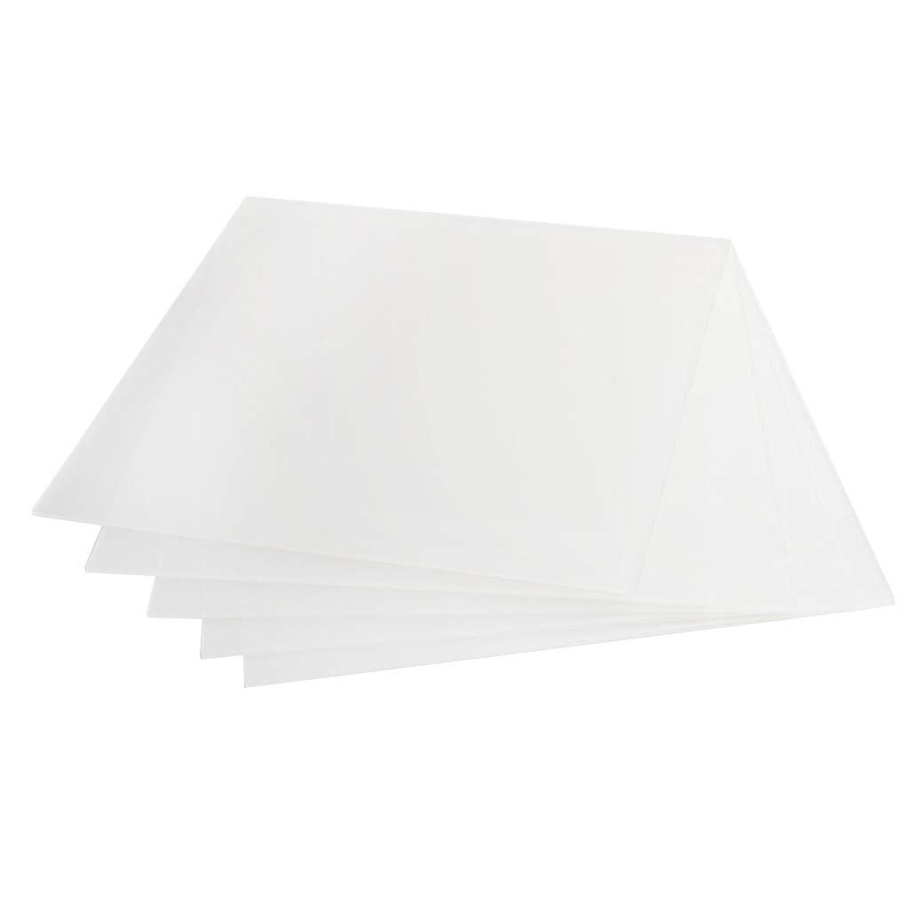 Homyl 5 Pièces Plaque Acrylique Clair Epaisseur 200 x 200 x 2 mm - Perspex Transparente