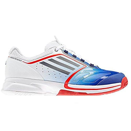 Adidas Adizero Tempaia II Tennisschuhe weiß/blau/rot