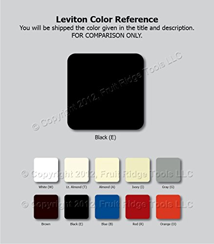 Buy leviton screwless wall plate black