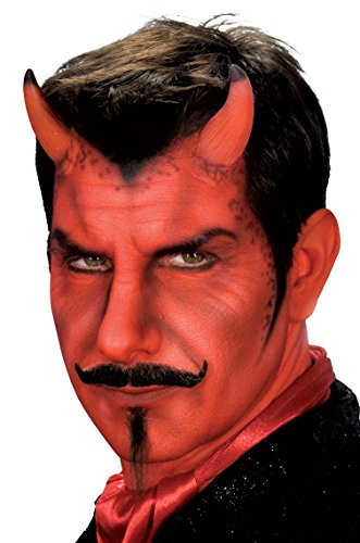 Devil Costume Makeup Male (Woochie by Cinema Secrets Devil Horns Latex Appliance - Small, Multi, One Size)
