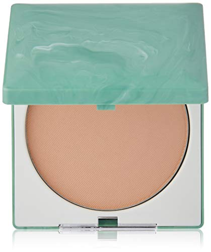 (Clinique Stay-Matte Sheer Pressed Powder | Shine-Absorbing, Oil-Free Formula | Create a Perfect Matte Appearance | Free of Parabens, Phthalates, and Sulfates | Stay Beige - 0.27 oz)