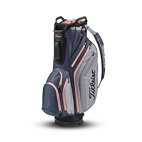 (Titleist 2019 Lightweight Cart Bag (14-way top, Charcoal/Sleet/Pink))