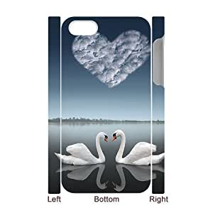 3D Bumper Plastic Case Of Swan customized case For Iphone 4/4s wangjiang maoyi
