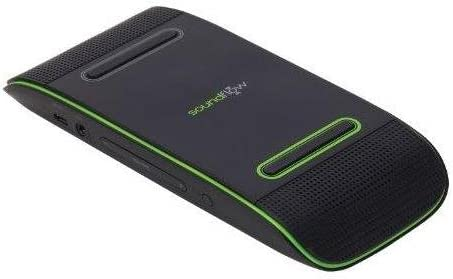 Soundflow Soundboard Wireless Portable Speaker presto, no pairing, no wires, no setup SP20BKGR in black and lime green