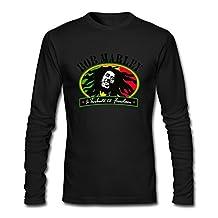 HEJX Man Bob Marley And The Wailers O-Neck Long Sleeve T-Shirt White
