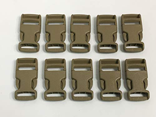 10 ITW Nexus Fastex Side Release Buckles Tan / Green 1