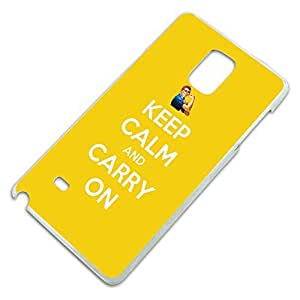 Keep Calm and Carry On Rosie the Riveter Slim Fit Hard Case Fits Samsung Galaxy Note 4
