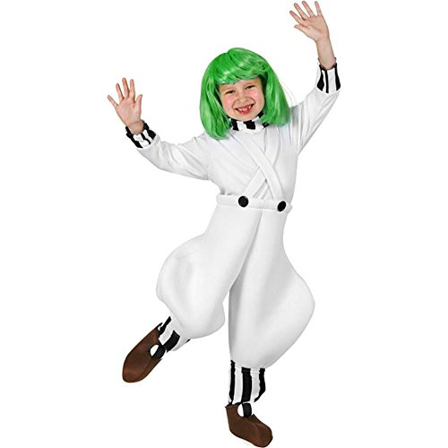 Oompa Loompa Factory Worker Costume (Child Candy Factory Worker Size: Youth Medium 7-10)