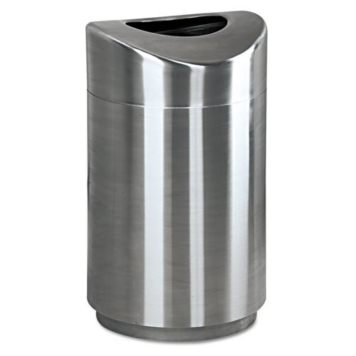 Rubbermaid Commercial Eclipse Open Top Waste Receptacle, Round, Steel, 30 gal, Stainless Steel - one waste receptacle. by Rubbermaid Commercial
