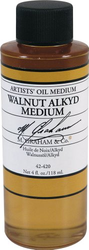 M. Graham 4-Ounce Walnut/Alkyd Medium