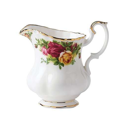 ntry Roses Creamer (Features 22k Gold Trim)