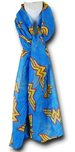 DC Comics Wonder Woman Logo All Over Print Infinity Soft Polyester - Scarf Wonder Woman