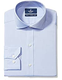 Men's Tailored Fit Cutaway-Collar Solid Non-Iron Dress Shirt