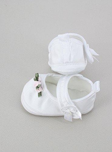 zur nbsp;– Hausschuhe Satin Magique oder Blumen Rose und Schnell weiß nbsp;Produkt mit verschickt Frankreich Boutique seit kleinen Taufe rosa Gespeichert SxwE5gdSPq