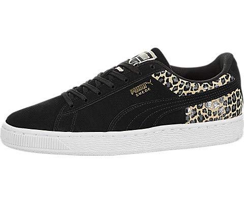 (PUMA Women's Suede Wild QTR Sneakers, Black, 6 M US)