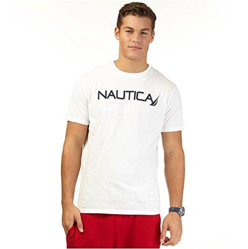 Nautica Big and Tall Mens Short Sleeve Logo T-Shirt (White 4X)
