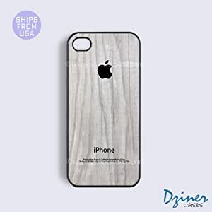 iPhone 5c Tough Case - White Wood Print Black Design iPhone Cover (NOT REAL WOOD) by lolosakes