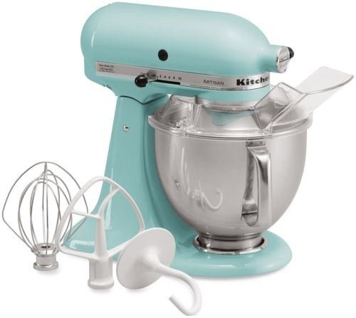 kitchen aid mixer aqua blue - 8