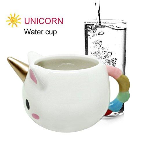 Tmalltide Cute Unicorn-Shaped Mug 3D Ceramic Coffee Cup for Home Office Unique Gift by Tmalltide