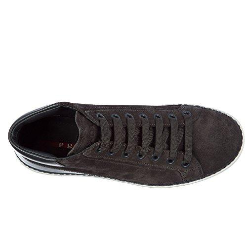 Daim Gris Hautes Prada Homme Baskets Sneakers en Chaussures zzR0fqY