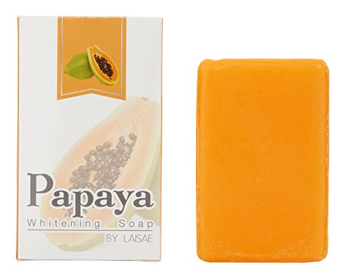 Papaya Whitening Soap - For Natural Skin Lightener - Help Exfoliates & Cleanses Body-Facial - Eliminates Acne Scars, Age Spots, Discoloration & Fine Lines - Suitable For All Skin Types