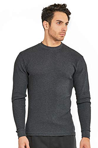- Men's Classic Waffle-Knit Heavy Thermal Top (XL, Charcoal)