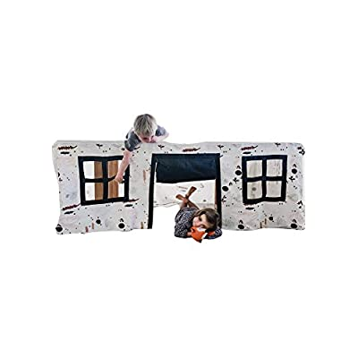 CubbyTime Fabric Play House - Portable, Washable, Foldable Kids Play Tent for Kids Indoor or Outdoor Canvas Children Fort. Play Based Learning Play House. Girls and Boys Fabric Tent. Imaginative Play: Toys & Games