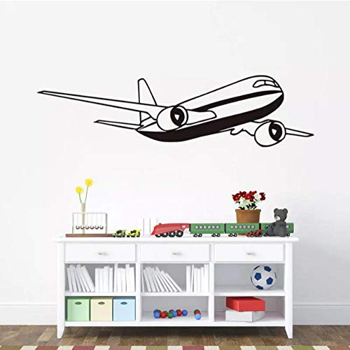 Airplane Vinyl Wall Stickers Decoration Kids Rooms Wallpaper Self Adhesive Wall Tattoo Home Art Decal Removable Mural 29X112Cm (Tattoo Wall Paper)