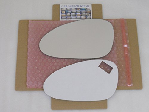 CHECK SIZE New Replacement Mirror Glass with FULL SIZE ADHESIVE for PORSCHE 911 CAYMAN BOXSTER Driver Side View Left LH