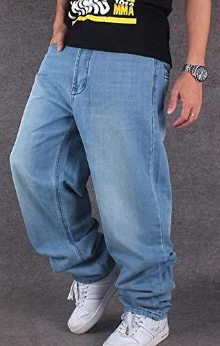 Skateboard Pantaloni Rap Da Di Stile Jeans Hip Giovane Denim Hipster Colour Hop Larghi Streetwear Uomo wCqtX0f