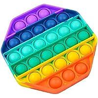Pop it Bubble Sensory Fidget Toy Autism Stress Relief Silent Classroom Special Needs Stress Reliever-Octagonal - Multi…