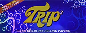 TRIP2 Clear Cellulose King Size Rolling Papers - 3 Packs! by Trip