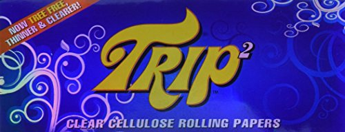 TRIP2 Clear Cellulose King Size Rolling Papers - 3 Packs! (Best Tasting Tobacco For Rolling Your Own Cigarettes)
