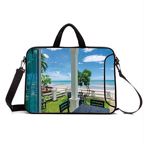 """15"""" Neoprene Laptop Bag Sleeve with Handle,Adjustable Should"""