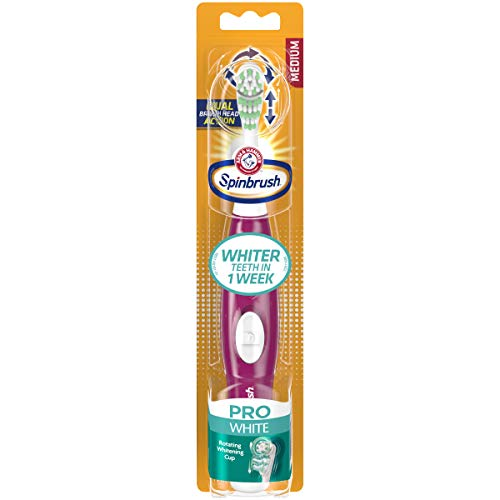 ARM & HAMMER Spinbrush Pro Series Ultra White Toothbrush, Medium 1 ea ()