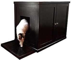 The Refined Feline Refined Litter Box, Large, Espresso