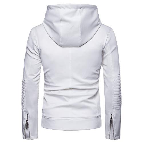 Blanc Cuir Homme Plié Manteau Uribaky Pour En 1wq8YnAa