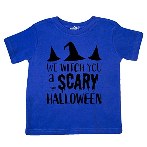 inktastic - We Witch You a Scary Halloween Toddler T-Shirt 5/6 Royal Blue 32027 ()