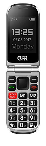 CPR CS900 Flip Cell Phone for Seniors and Elderly with Big Buttons, Robocall Blocker and SOS Emergency Assist Function, 3G Unlocked Sim Free Mobile