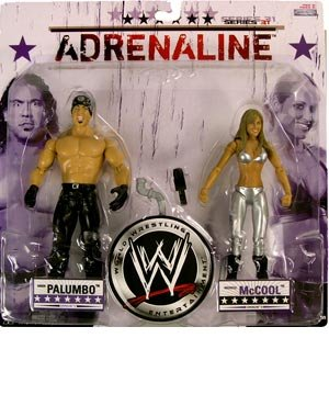 WWE Wrestling Adrenaline Series 31 Action Figure 2-Pack Chuck Palumbo and Michelle McCool (Series 2 Wwe Toy)