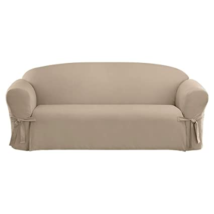 Beautiful SureFit SF26666 Cotton Duck Sofa Slipcover, Linen
