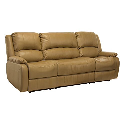 RecPro Charles 94″ Double RV Zero Wall Hugger Recliner Sofa w/ Drop Down Console Toffee