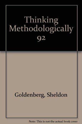 Thinking Methodologically (Harper's American Political Behavior Series)