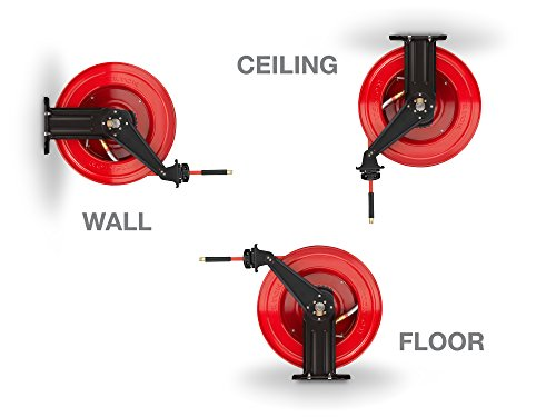 TEKTON 50-Foot by 3/8-Inch I.D. Dual Arm Auto Rewind Air Hose Reel (250 PSI) | 46875 by TEKTON (Image #3)