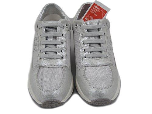 Raul Sneaker Lumberjack Argento Zeppa Estraibile Interna Pelle E Plantare Tessuto Donna Sw01305 In PndwnqC