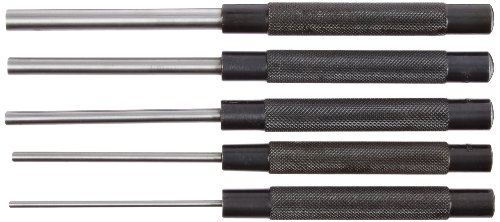 Fowler 52-500-300 Chrome Alloy Steel Extra Long Drive Pin Punch Set, 8
