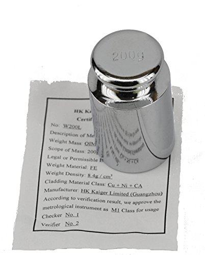 Scales USA Certified 200 Gram Test Calibration Weight Chrome Plated Steel (Weight 200g)