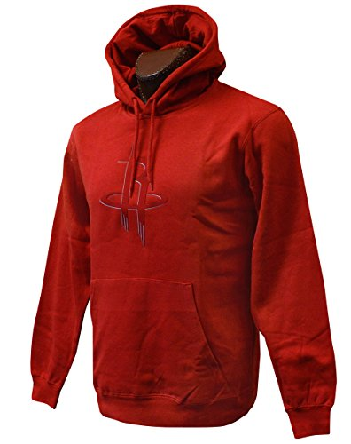 (Majestic Athletic NBA Men's Tek Patch Long Sleeve Fleece Pullover Hoodie (XXL, Houston Rockets))
