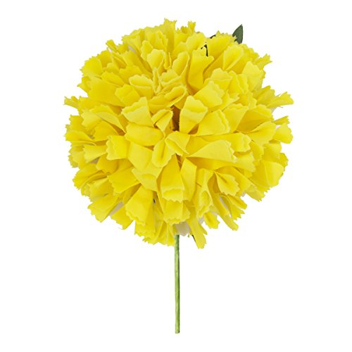Ole Ole Flamenco Dancer Yellow Fabric Clavel (Carnation) Handmade Rose Flower Hair Pin Flower Lady Hair Accessories